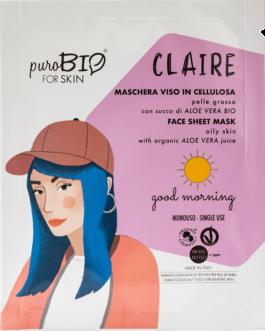 PUROBIO  Maschera viso in cellulosa Claire – GOOD MORNING