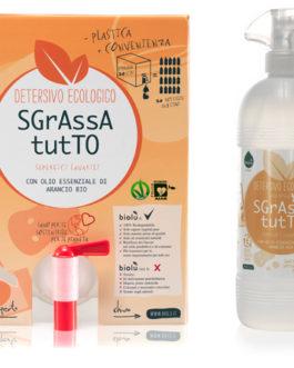 BIOLU DETERSIVO BIOLOGICO ALLA SPINA – Sgrassatutto – 1 litro