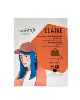 PUROBIO  Maschera viso in cellulosa Claire – CAREER GIRL