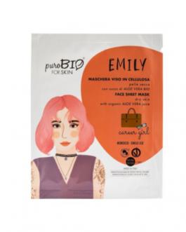PUROBIO  Maschera viso in cellulosa Emily – CAREER GIRL