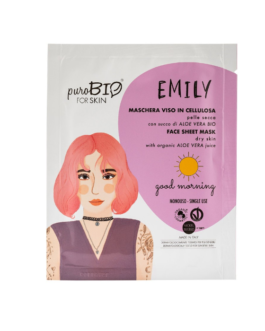 PUROBIO  Maschera viso in cellulosa Emily – GOOD MONING