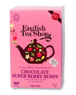 """Infuso di rooibos e ibisco """"Chocolate Super Berry Burst"""" con fave di cacao"""