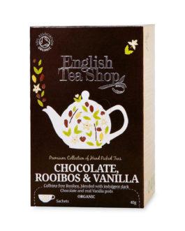 Infuso di rooibos con baccelli di vaniglia e scaglie di cacao
