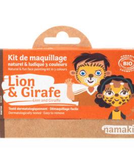 NAMAKI Kit make up bio 3 colori Leone e Giraffa