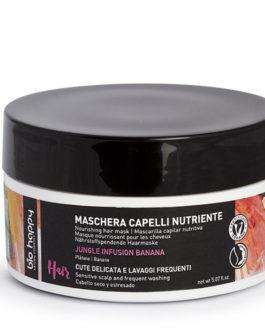 BIO HAPPY  MASCHERA CAPELLI NUTRIENTE BANANA JUNGLE INFUSION