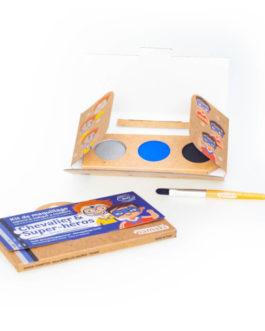 NAMAKI Kit make up bio 3 colori Cavaliere e SuperEroe