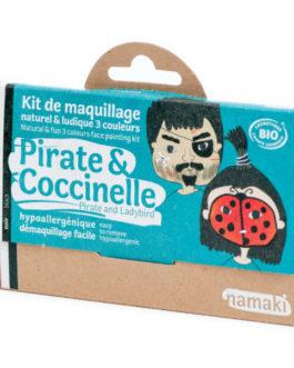 NAMAKI Kit make up bio 3 colori Pirata e Coccinella
