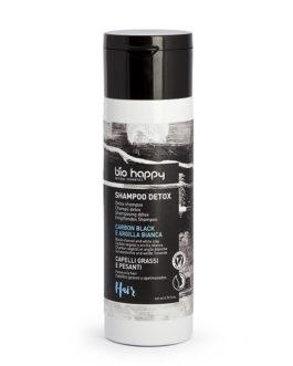 BIO HAPPY Shampoo detox carbon black e argilla bianca