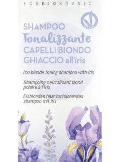 MaterNatura – Shampoo Tonalizzante Capelli Biondo Ghiaccio all'Iris