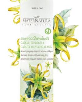 MaterNatura – Shampoo Stimolante Capelli Tendenti alla Caduta all'Ylang Ylang