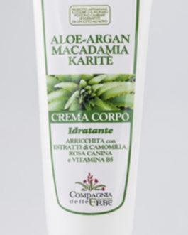 Crema Corpo ALOE-ARGAN, MACADAMIA, KARITE' 250ml